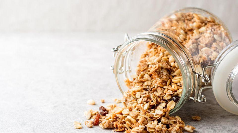 Rezept für selbstgemachtes, gesundes Granola