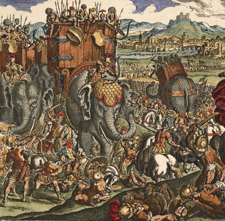 Pyrrhus konfrontierte die Römer erstmals mit Kriegselefanten.