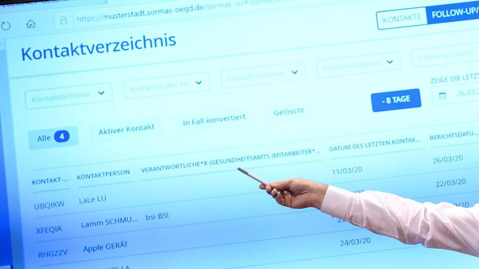 Manche Gesundheitsämter verwenden eine Software zur Ermittlung von Kontakten– aber nicht alle
