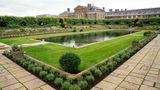 London, England. In diesem vom Kensington-Palast zur Verfügung gestellten Foto erstrahlt der neu dekorierte Vorgarten in seiner ganzen akkuraten Pracht.