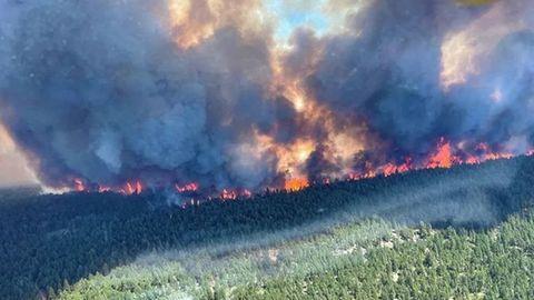Blick auf das Sparks Lake Wildfire unweit von Lytton