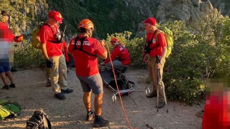 Das Rettungsteam des Sheriffs von Salt Lake County bei seinem Einsatz in den Wasatch Mountains