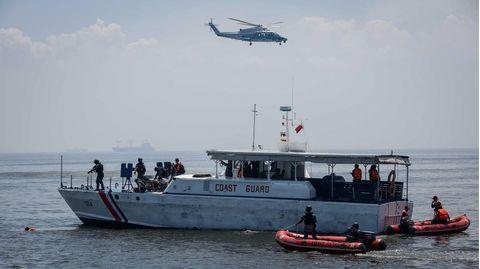 Die philippinische und die japanische Küstenwache bei einer gemeinsamen Übung