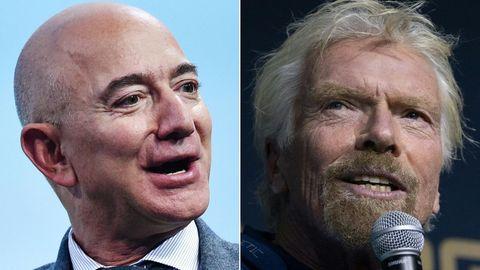 Jeff Bezos und Richard Branson