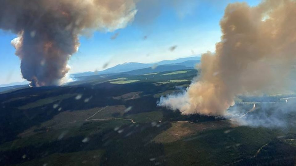 Lytton in Kanada brennt nieder