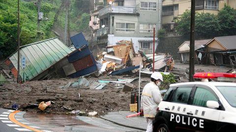 Schlammlawine in Japan