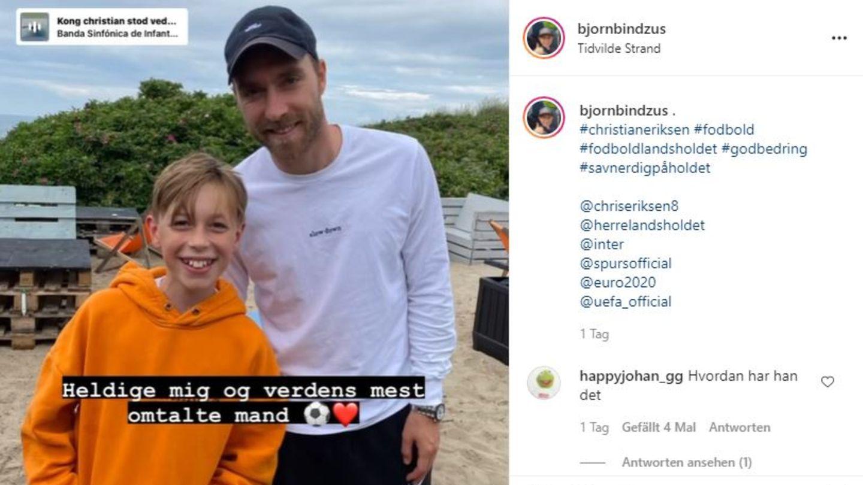 Christian Eriksen mit Fan