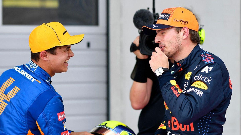 Lando Norris und Max Verstappen nach dem Qualifying in der Steiermark