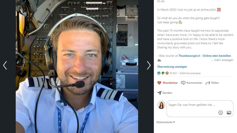 Pilot Morris Ogg postet seine Geschichte, die Hoffnung macht, auf LinkedIn. Dort listet er nicht nur die Jobs auf, die er in den letzten 15 Monaten gemacht hat, sondern ermutigt auch seine Leidensgenoss:innen, einfach weiterzumachen und die Hoffnung nicht aufzugeben.