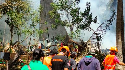 Philippinisches Militärflugzeug abgestürzt