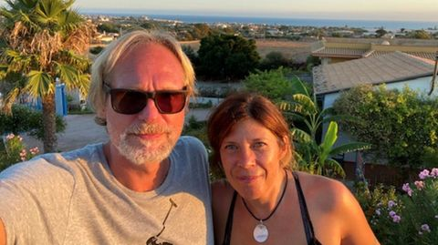Der Ausblick aufs Meer vom Haus von Alexandra Schölderle und Jean-Michel Chaloupek