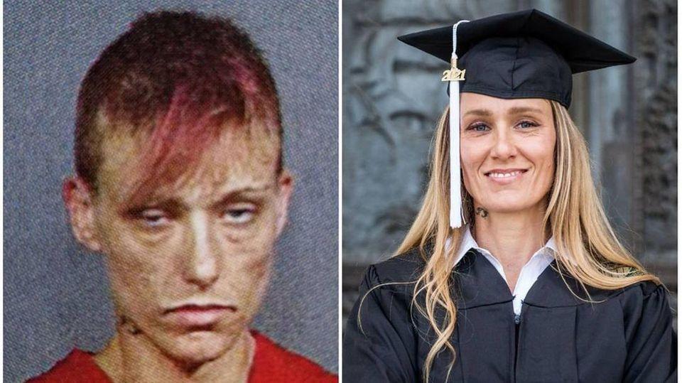 Von der Drogensüchtigen zur College-Überfliegerin: Wie Ginny Burton sich ein neues Leben aufbaut