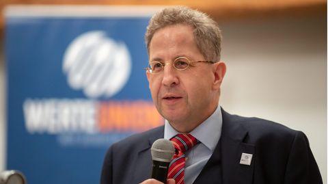 Hans-Georg Maaßen (CDU), Ex-Verfassungsschutzpräsident, bei einer Wahlkampfveranstaltung in Thüringen