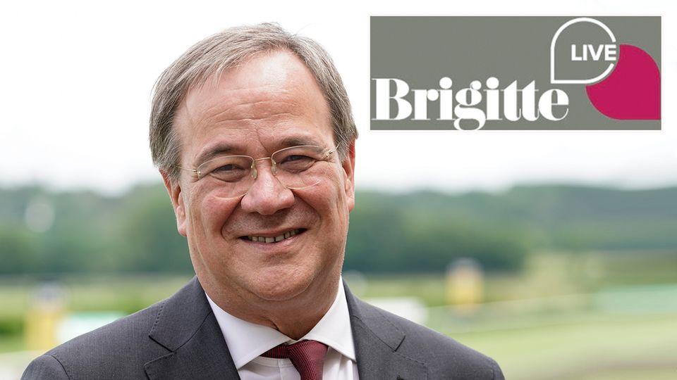 """Armin Laschet, Kanzlerkandidatder CDU, stellt sich den Fragen in der Gesprächsreihe """"Brigitte Live"""""""