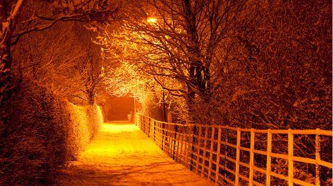 Idyllisches Warrington im Winter
