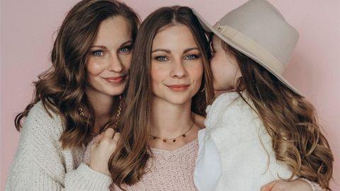Lara, Nina und Tochter Lea