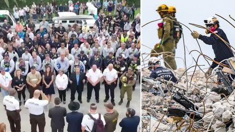 Nach Hochhauseinsturz in Miami: Keine Hoffnung mehr auf Überlebende – Einsatzkräfte gedenken der Opfer.
