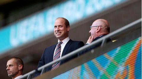 Prinz William beim EM-Halbfinale zwischen England und Dänemark