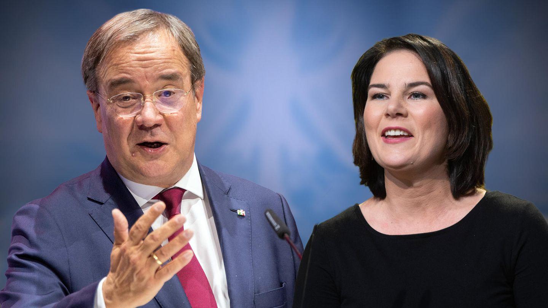 Die Kanzlerkandidaten von CDU und Grünen: Armin Laschet und Annalena Baerbock