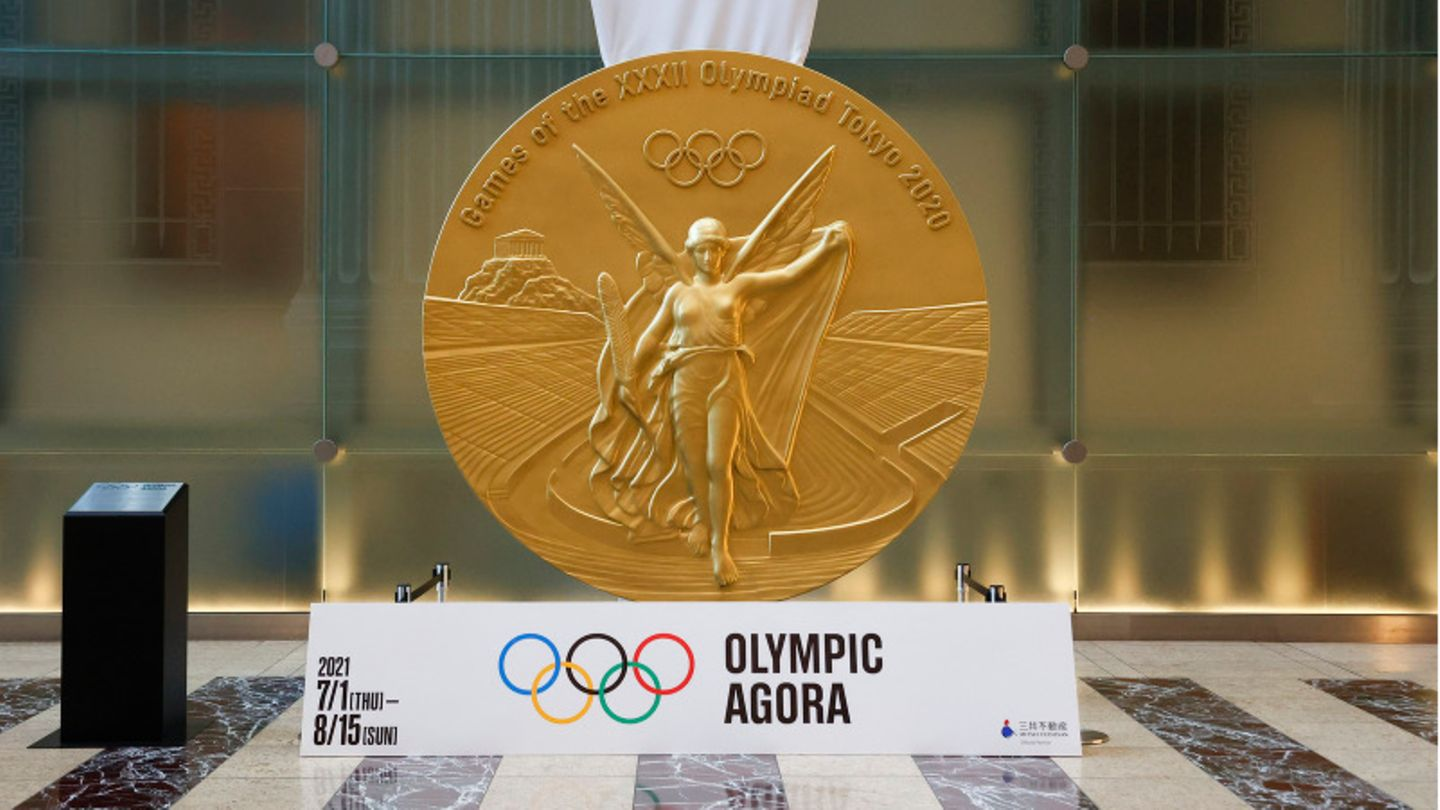 Riesige Olympia-Medaille