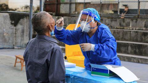 Test auf das Coronavirus in China