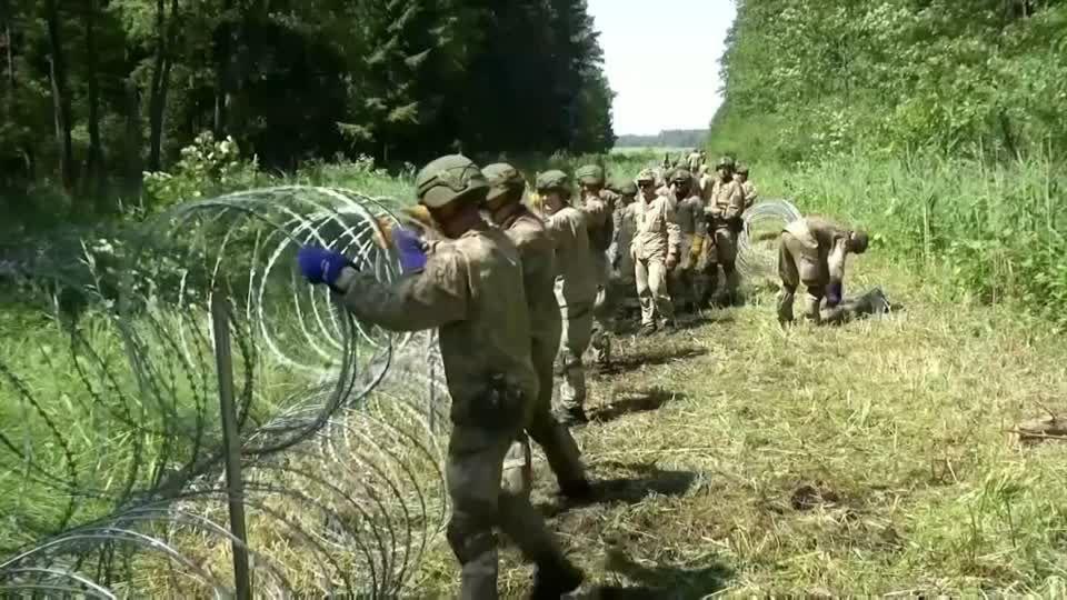 Andrang von Migranten: Polen will noch in dieser Woche mit Zaunbau zu Belarus beginnen