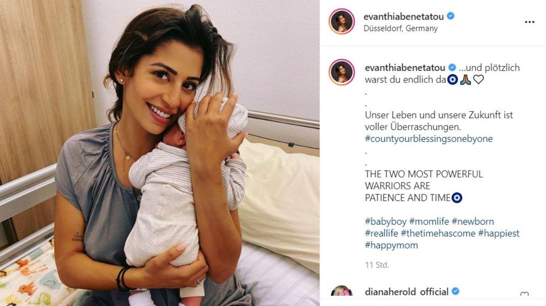 Vip-News: Eva Benetatou zeigt sich auf Instagram mit ihrem Baby