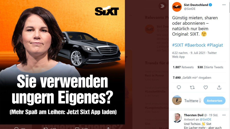 Sixt ist bekannt für zeitkritische und provokante Werbung