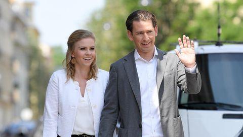 Österreichs Bundeskanzler Sebastian Kurz (ÖVP) und seine langjährige Partnerin Susanne Thier