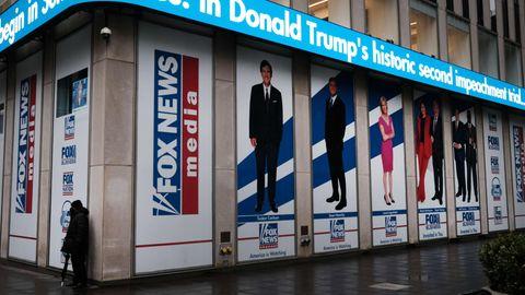 Das Hauptquartier von Fox News in New York City (USA)