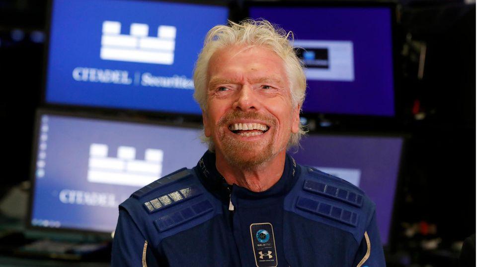 Der britische Unternehmer und Abenteurer Richard Branson