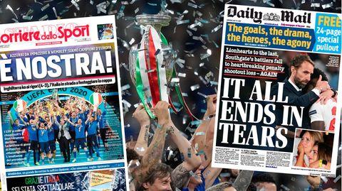 Freude in Italien, Trauer in England