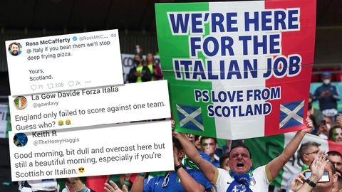 Schotten spotten über Englands Niederlage gegen Italien im EM-Finale