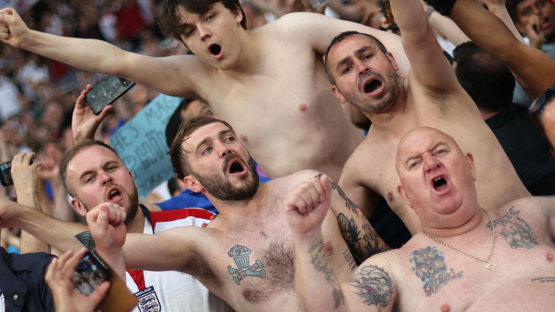 Englische Fans im Stadion