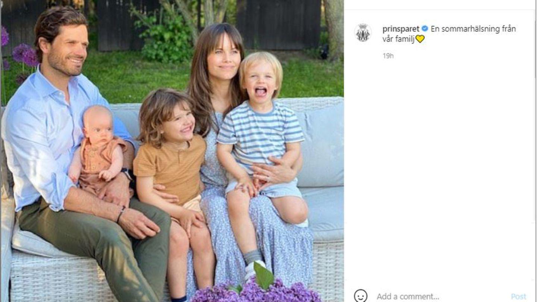 Vip-News: Carl Philip und Sofia von Schweden teilen erstes Familienbild zu fünft