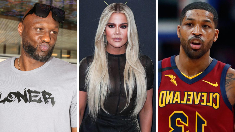 Lamar Odom, Khloé Kardashian and Tristan Thompson