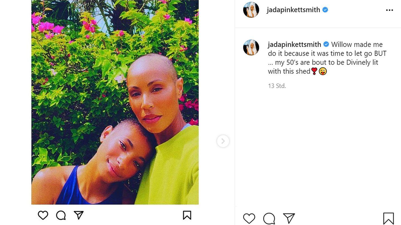 Vip News: Jada Pinkett Smith trägt jetzt Glatze