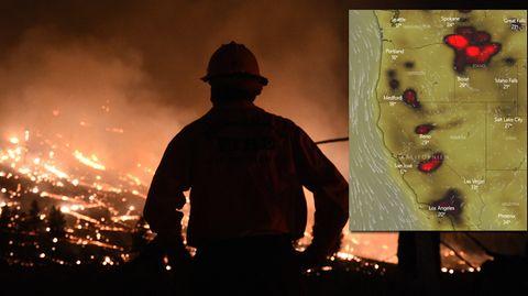 Waldbrände in USA und Kanada