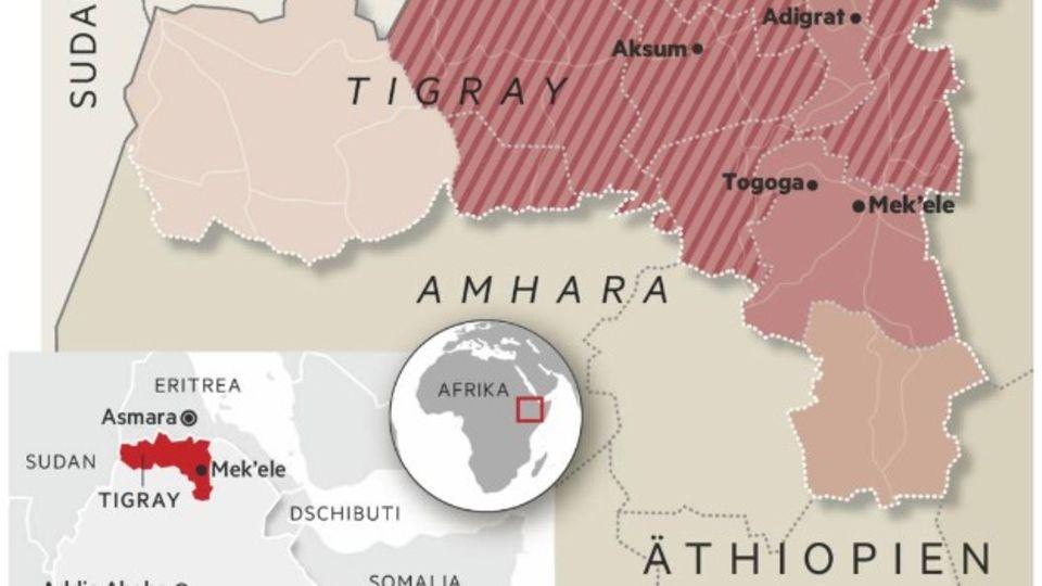 Übersichtskarte Äthiopien