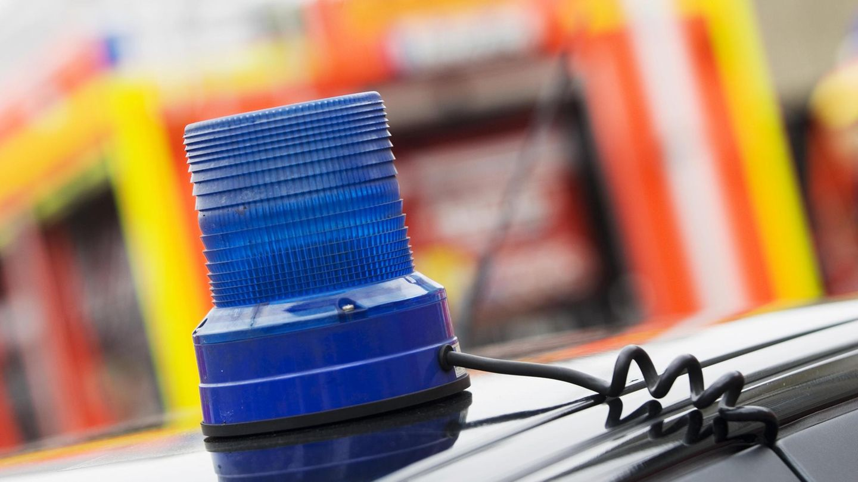 Feuerwehr-Blaulicht als Symbolfoto für eine Explosion in Garching