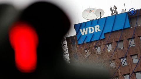 Das Logo desWestdeutschen Rundfunk (WDR) in Köln
