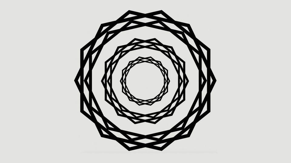 Neuartige optische Illusion verwirrt Hirn mit strahlenförmigen Linien