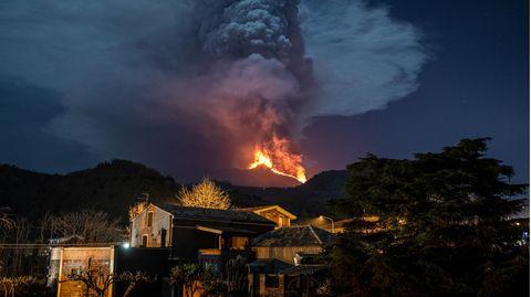 Eruption des Vulkans Ätna