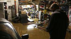 Vollgelaufene Garage