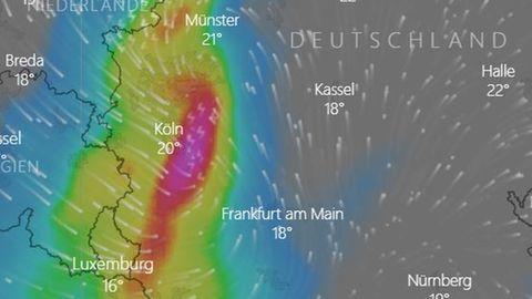 Starkregen in Deutschland: Unwetter wüten immer noch – auf dieser Karte sehen Sie die Entwicklung live