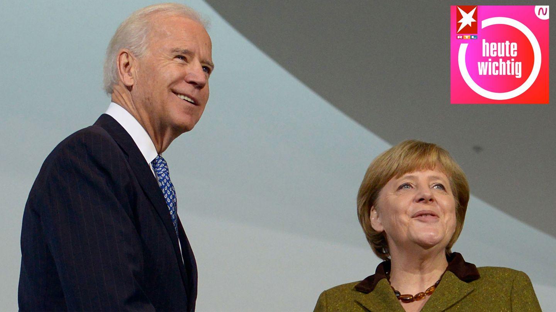 heute wichtig - Joe Biden und Angela Merkel
