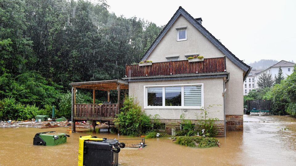 Überschwemmungen am 14.07. in Hagen.
