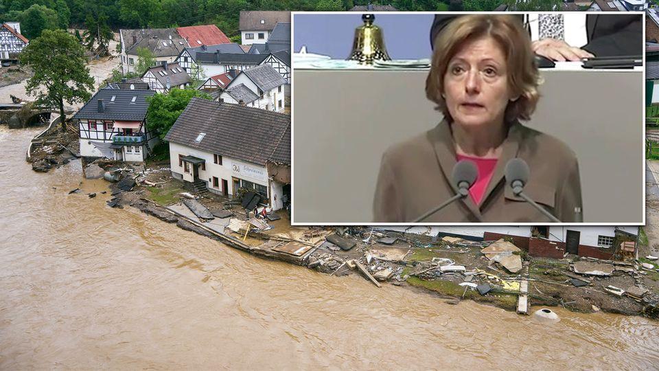 """Dreyer zur verheerenden Flut in Rheinland-Pfalz: """"Es ist eine Katastrophe""""."""