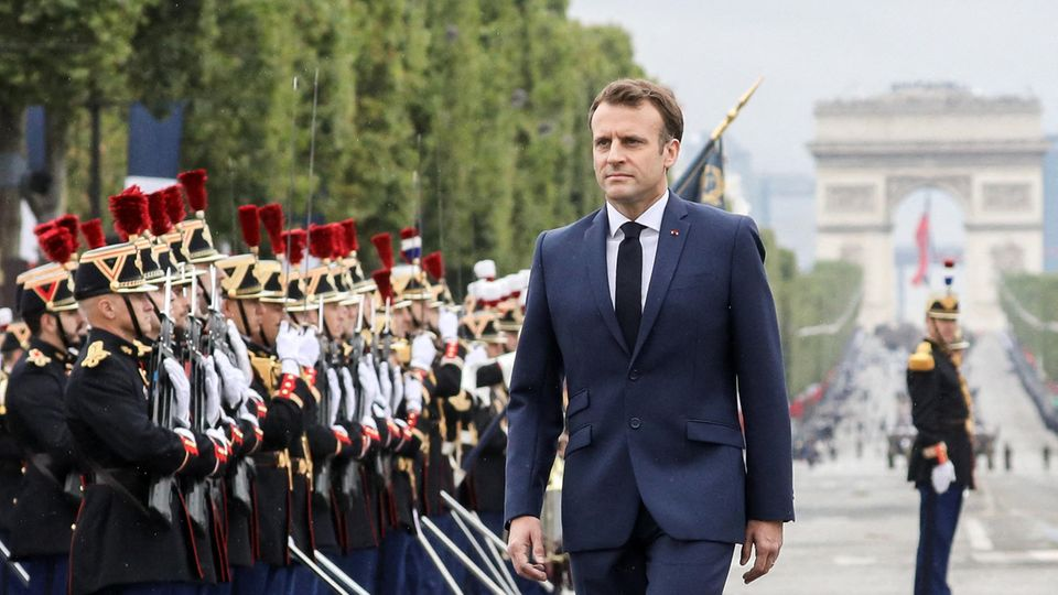 Emmanuel Macron, hier bei den Feierlichkeiten zum 14.Juli.