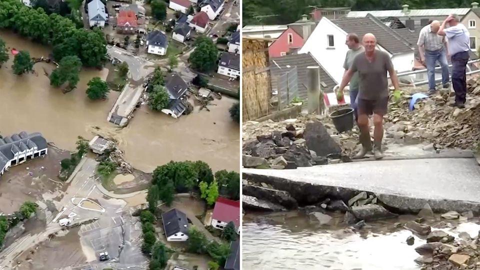 Unwetterkatastrophe: Zahl der Toten steigt auf mehr als 90 – weitere Häuser stürzen ein